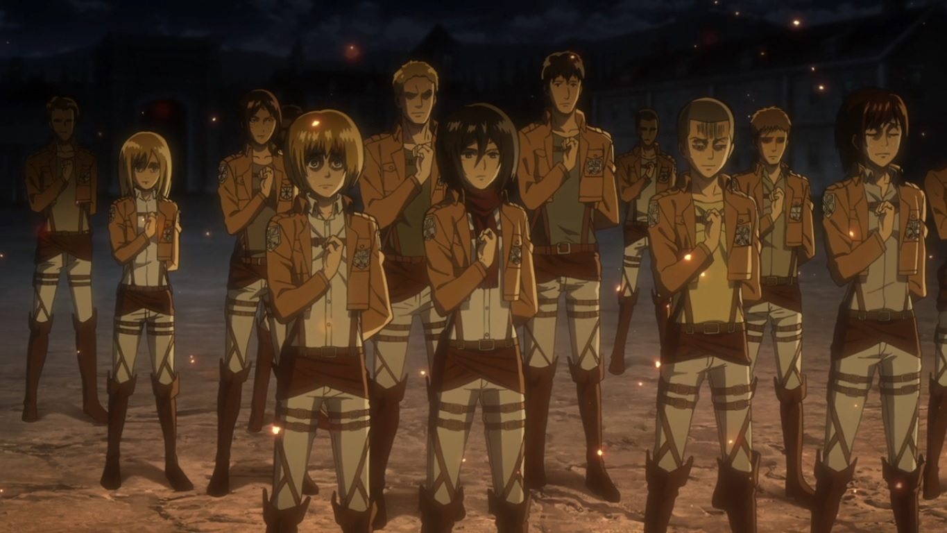 How do girls in... Attack On Titan Levi Salute