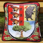 Cushion with Ghibli Museum Emblem ¥2,592