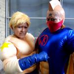 wrestlers Kinnikuman and his Texan friend Terryman